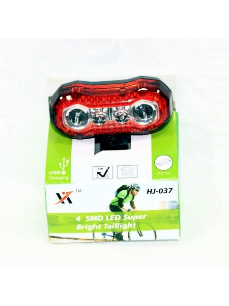Мигалка задняя (зарядка под  USB, красный) (#MD), mod:HJ-037(GA-36)
