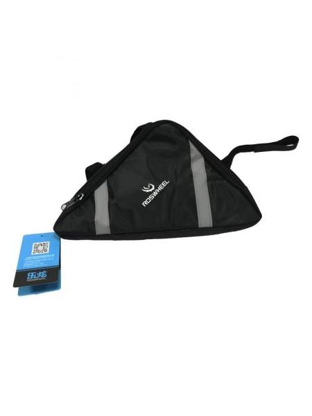 Велосипедная сумка под раму (для инструмента, ROSWHEEL, чёрная, средняя) (#MD), mod:GA-58