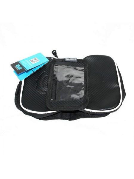Велосипедная сумка на раму (для инструмента и смартфона 5.5″ , водонепроницаемая, чёрная,ROSWHEEL) (#MD), mod:GA-46-1