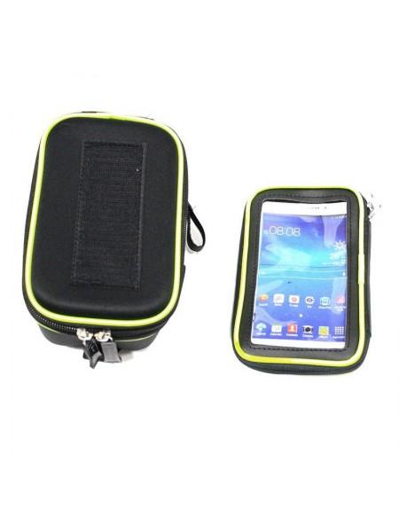 Велосипедная сумка на раму (для инструмента и смартфона 5.5″, чёрная,WOLF BFSE ) (#MD), mod:GA-44