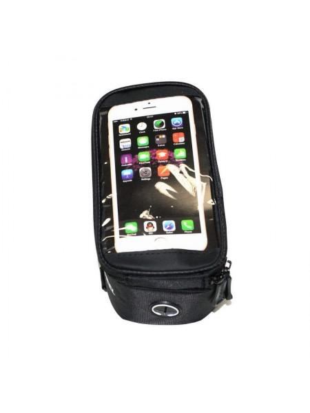 Велосипедная сумка на раму (для инструмента и смартфона 5.5″, чёрная, ROSWHEEL ) (#MD), mod:GA-43