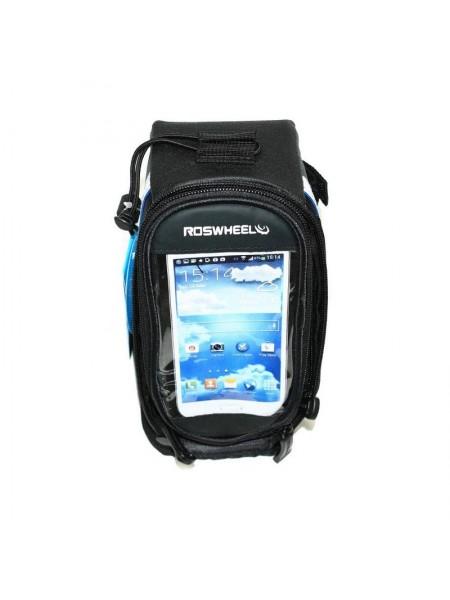 Велосипедная сумка на раму (для инструмента и смартфона 5.5″,4.8″,4.2″ чёрная, ROSWHEEL, 3 шт) (#MD), mod:GA-42
