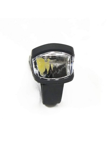Фара велосипедная (передняя с силиконовым пкорытием, с креплением, зарядка под USB, ) (#MD), mod:A250 (GA-68)