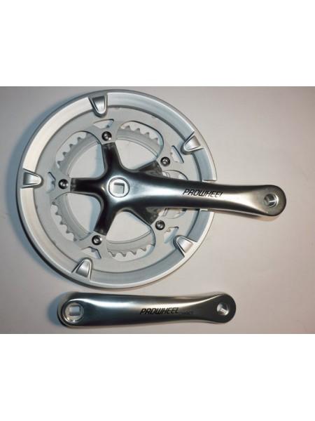Шатун система, PROWHEEL CHARIOT, алюминиевая mod:420P 39-53 (20), серебро (#MD)