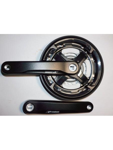 Шатун система, PROWHEEL, алюминиевая mod:CN68 , 24-34-42 зуб (03) , черная (#MD)