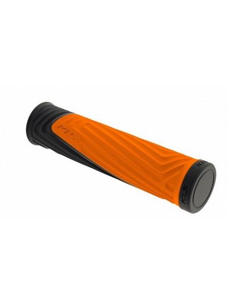 """Грипсы велосипедные Kellys """"Advancer"""" цвет:оранжевый пара"""
