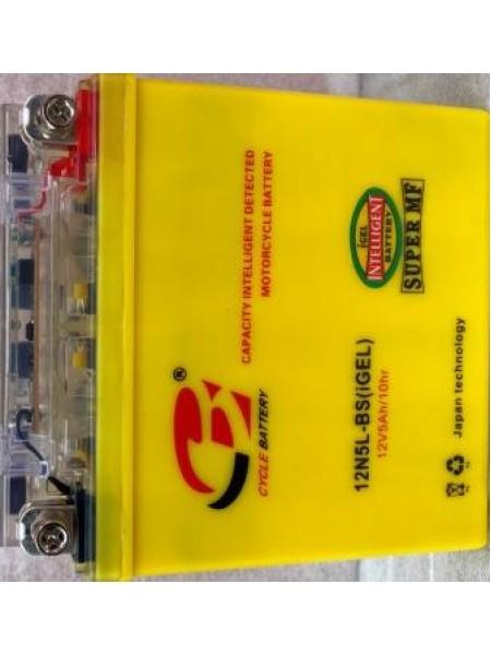 АКБ 12V5A JAWA ACTIV высокий желтый гель 120*130*60