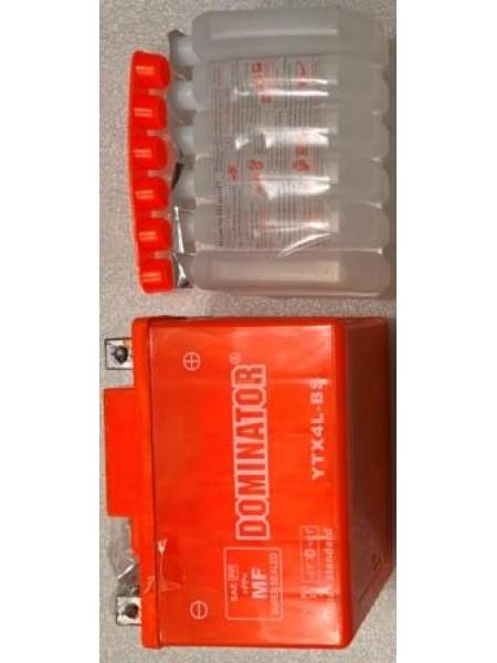 АКБ 12N4 DOMINATOR заливной оранжевый 86x70x114