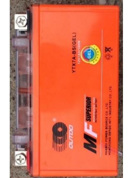 АКБ 12V7A OUTDO (GEL) оранжевый 95x87x150
