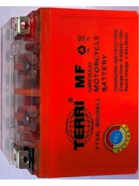 АКБ 12V4A TERRI оранжевый (GEL) 86x70x114